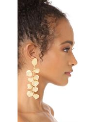 Kenneth Jay Lane - Metallic Satin Gold Leaf Earrings - Lyst