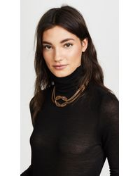Tory Burch | Metallic Chain Short Necklace | Lyst