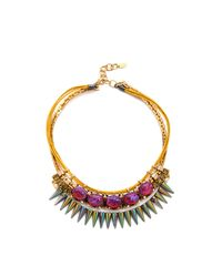 Elizabeth Cole - Multicolor Mexican Opal Bib Necklace - Lyst