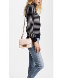 Tory Burch - Pink Juliette Croc Mini Top Handle Cross Body Bag - Lyst