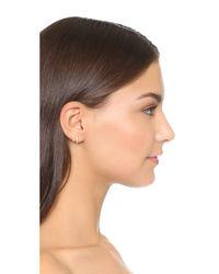 Zoe Chicco - Metallic Double Huggie Hoop Earrings - Lyst