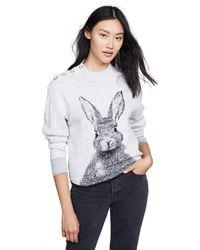 Paul & Joe - Gray Lapin Sweater - Lyst