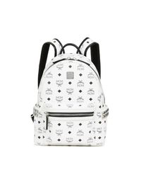 MCM - White Stark Small Backpack - Lyst