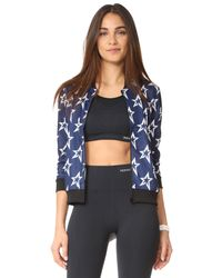 Perfect Moment - Blue Star Mesh Jacket - Lyst