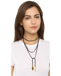 Vanessa Mooney - Black Charm Wrap Necklace - Lyst