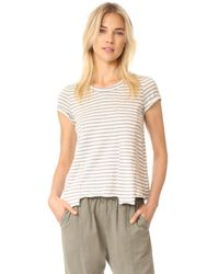Wilt - Gray Baby Fractured Striped Short Sleeve Tee - Lyst