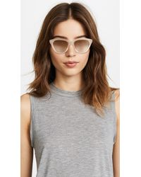 Le Specs Metallic Wannabae Sunglasses