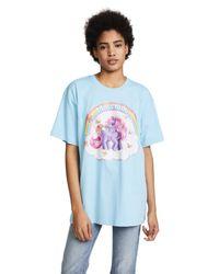 Moschino - Blue Oversized My Little Pony Tee - Lyst
