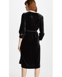 Edition10 - Black Wrapped Dress - Lyst