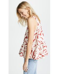 WHIT - Red Floret Top - Lyst