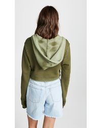 Cotton Citizen - Green Athletic Crop Hoodie - Lyst