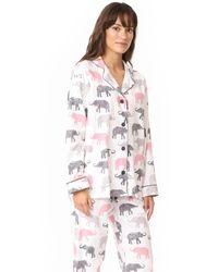 Pj Salvage - White Elephant Walk Flannel Pj Set - Lyst