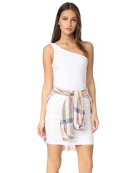 Sundry | White One Shoulder Dress | Lyst