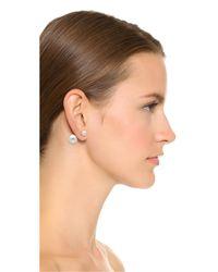Shashi - Metallic Double Ball Earrings - Lyst