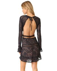 For Love & Lemons - Black Emerie Cut Out Dress - Lyst