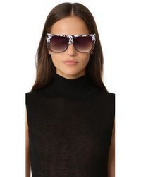 Hadid Eyewear - Gray Frequent Flyer Sunglasses - Lyst