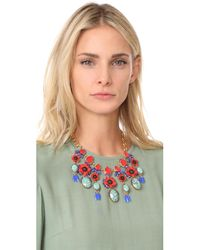 Elizabeth Cole - Red Celia Necklace - Lyst