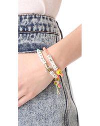 Venessa Arizaga - Multicolor Happy Smile Bracelet - Lyst
