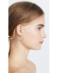Alexis Bittar - Metallic Wavey Front Hoop Earrings - Lyst
