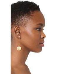 Kenneth Jay Lane   Metallic Dangling Sphere Earrings   Lyst