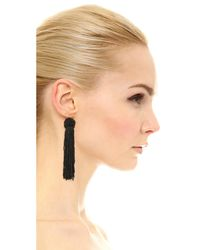 Vanessa Mooney - Black The Astrid Knotted Tassel Earrings - Lyst
