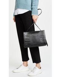 Little Liffner - Black Croc Embossed Shopper Bag - Lyst