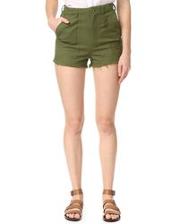 Knot Sisters - Green Utility Shorts - Lyst