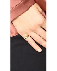 Jacquie Aiche - Multicolor Ja Burst Heart Signet Pinky Ring - Lyst