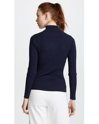 Tory Sport - Blue Tech Knit Ribbed Sweater - Lyst