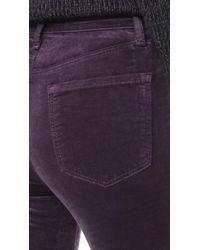 J Brand - Purple Maria High Rise Skinny Velveteen Jeans - Lyst