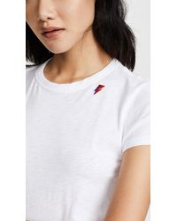 Rag & Bone - White Tee With Bolt Embroidery - Lyst