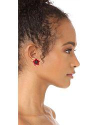 Kate Spade - Red Precious Poppies Stud Earrings - Lyst