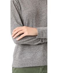 The Lady & The Sailor - Gray Varsity Pullover - Lyst
