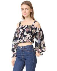 Nicholas - Multicolor N/ Thistle Floral Long Sleeve Rosie Top - Lyst