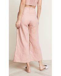 Faithfull The Brand - Pink Carmen Pants - Lyst