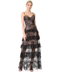 Nicholas - Black Rosie Lace Tiered Gown - Lyst