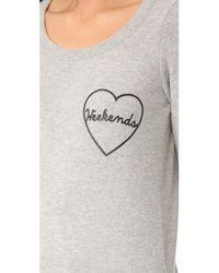 Chaser - Gray Weekend Love Sweatshirt - Lyst