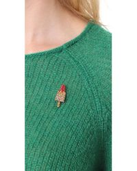 Marc Jacobs - Multicolor Strass Rocket Lolli Pin - Lyst