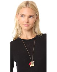 Tory Burch - Metallic Charm Pendant Necklace - Lyst