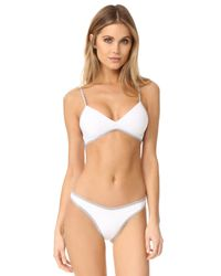 L*Space - White Colorblock Whiplash Bottoms - Lyst