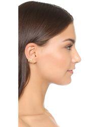 Elizabeth and James   Metallic Roxy Earrings   Lyst