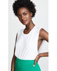 Alix - White Thompson Bodysuit - Lyst