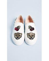 Kate Spade - White Lizbeth Patch Slip On Sneakers - Lyst
