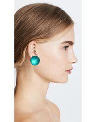 Alexis Bittar - Blue Medium Dome Clip On Earrings - Lyst
