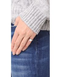 EF Collection - Multicolor 14k Diamond Baguette Signet Ring - Lyst