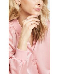 Suzanne Kalan - 18k Gold Pink Sapphires Baguette Ring - Lyst