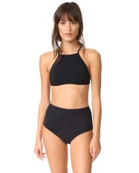 Zimmermann - Black Separates High Waisted Bikini Bottoms - Lyst