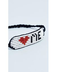 Venessa Arizaga - Black Love Bracelet - Lyst