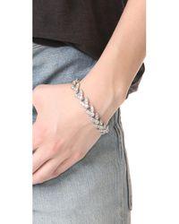 Ben-Amun | Metallic Crystal Leaves Bracelet | Lyst
