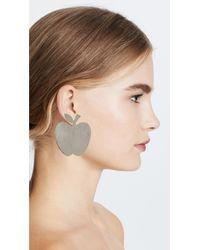 Anndra Neen - Metallic Apple Earrings - Lyst